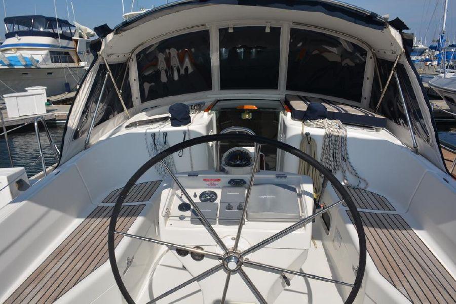 Benteau 411 Sailboat Cockpit
