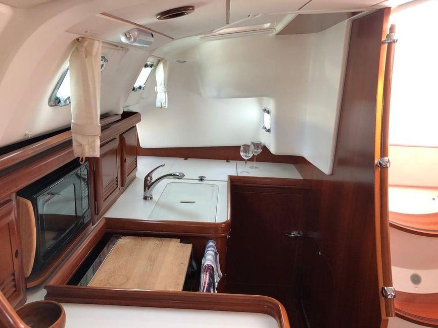 Beneteau 411 Sailboat Galley Kitchen