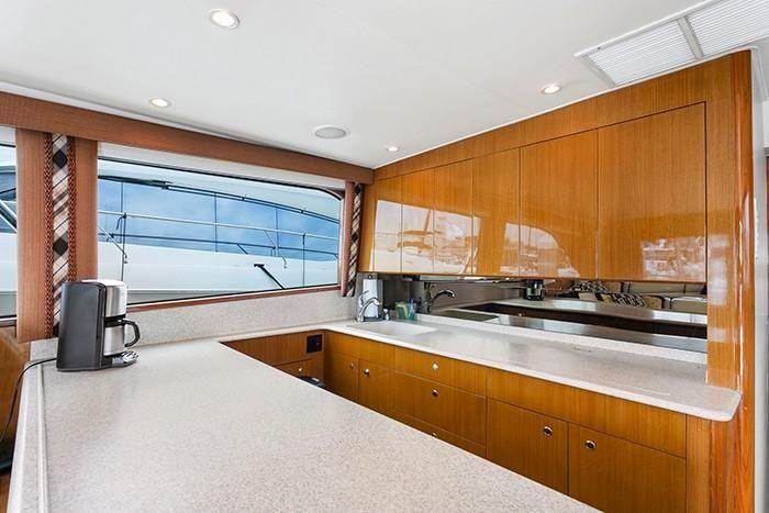 2001 Viking Yachts 55 Convertible Galley Kitchen