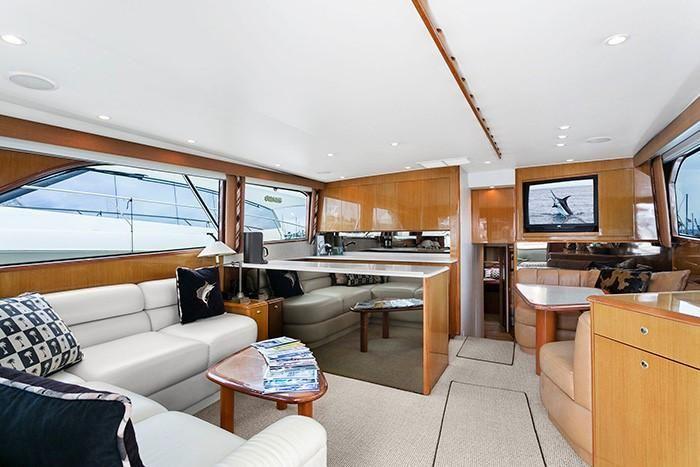 Viking Yachts 55 Convertible Salon Layout