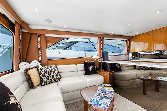 Viking Yachts 55 Convertible Salon Sofa