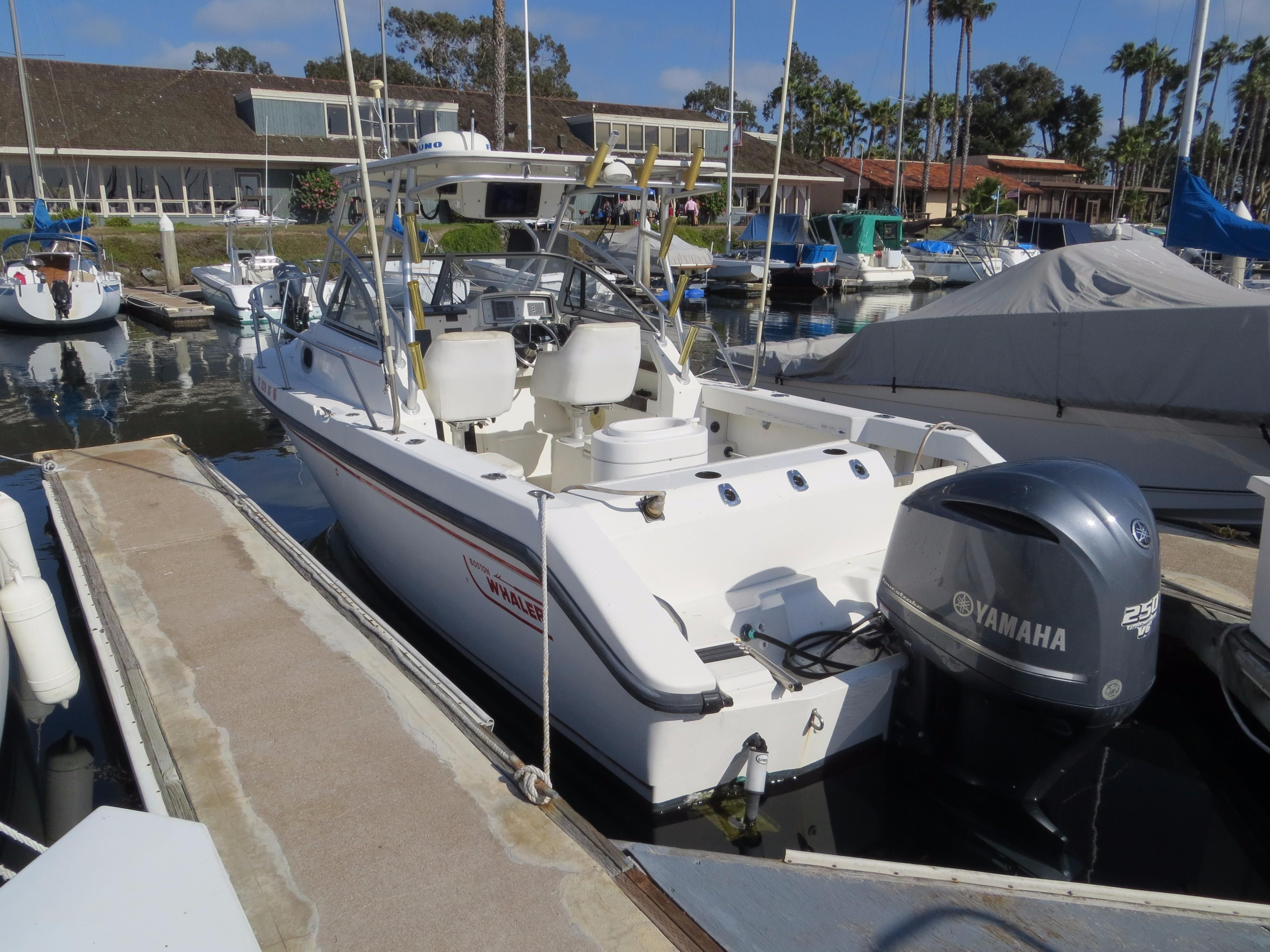 2000 boston whaler 23 conquest power boat for sale www for Yamaha outboard service san diego
