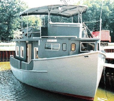 2004 custom trawler hull houseboat power boat for sale for Classic house 2004