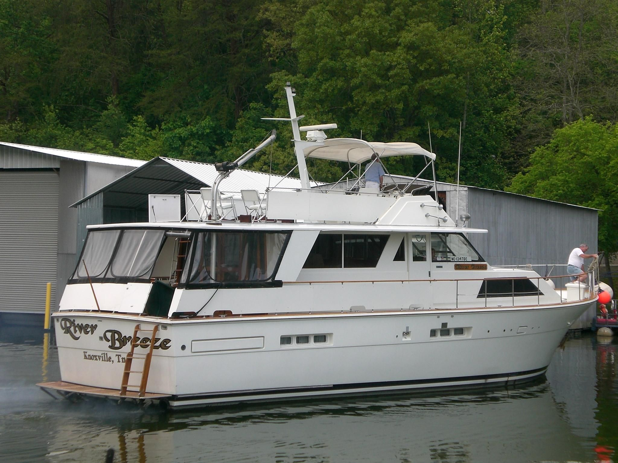 1977 trojan 54 deckhouse motoryacht power new and used for Clayton motor co west knoxville tn