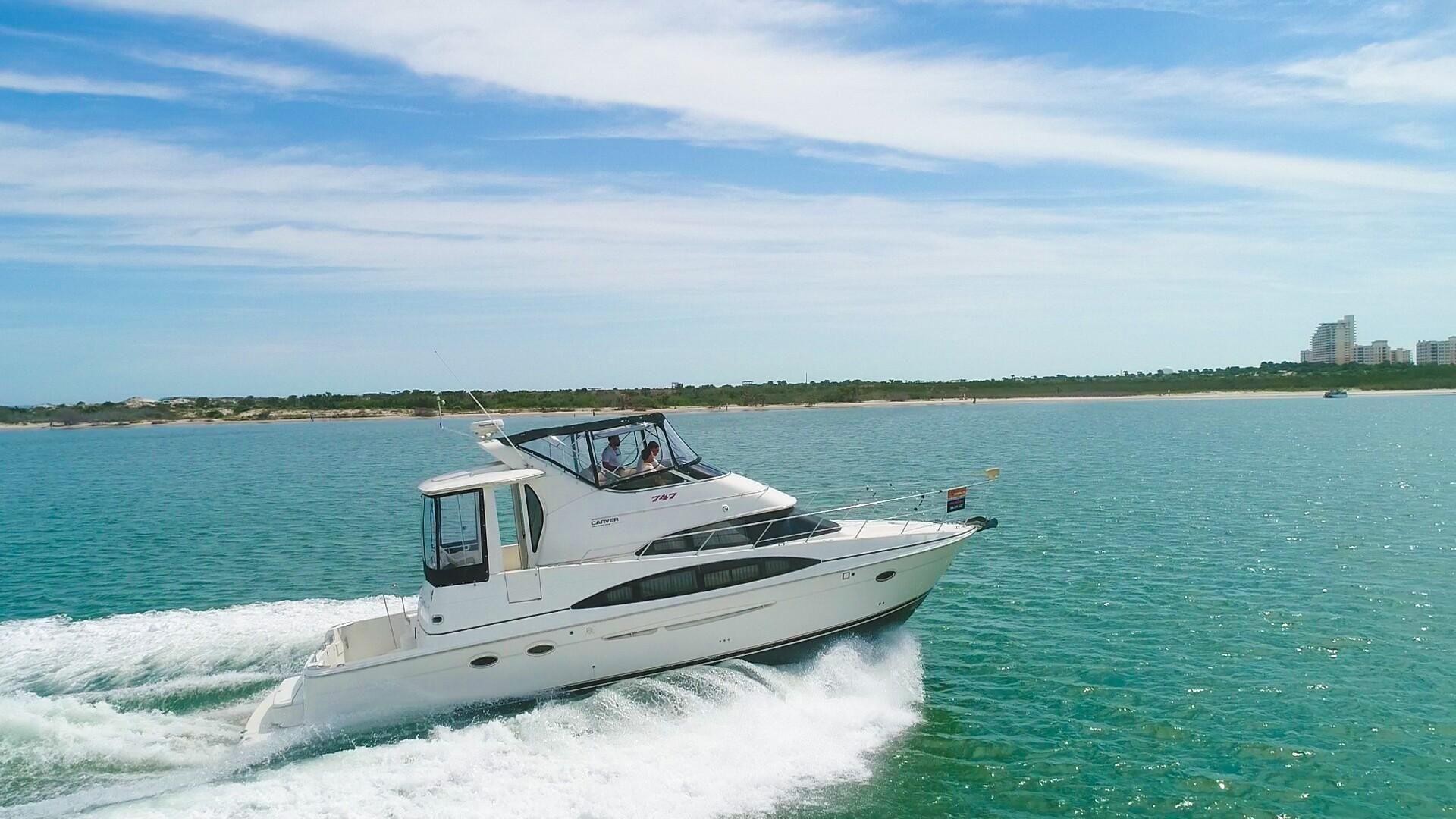 2004 carver 444 cockpit motor yacht power new and used for Klakring motor co annapolis