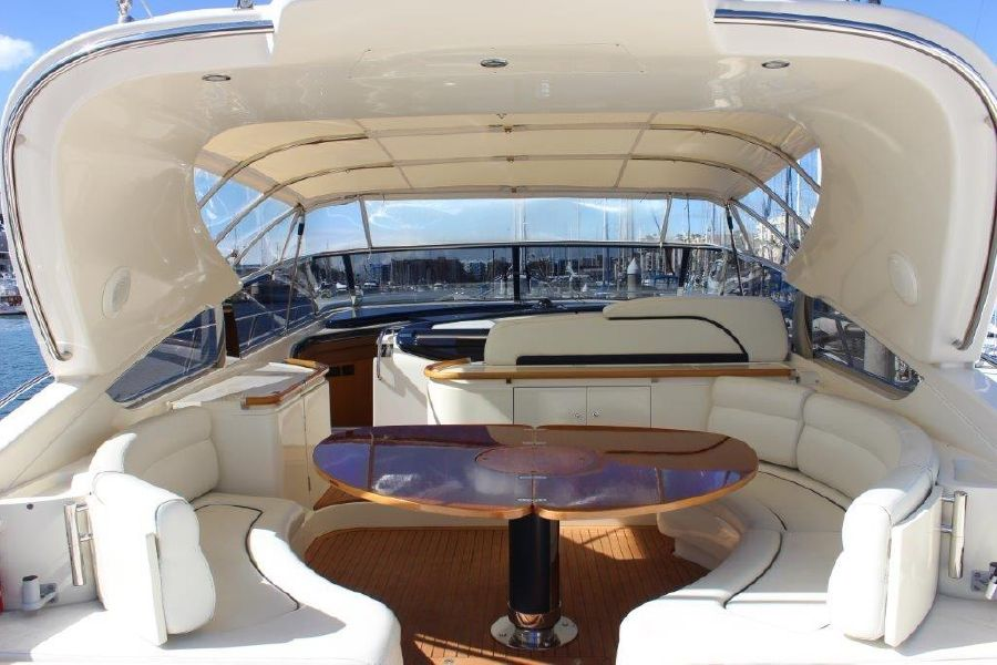 Riva Yachts 59 Mercurius Luxury Cockpit Lounge