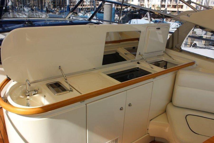 Riva 59 Luxury Yacht Cockpit Grill