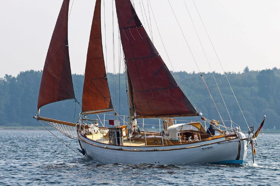 Wooden Sailboats For Sale >> 1935 Danish Classic Wooden Double Ender Sail Boat For Sale