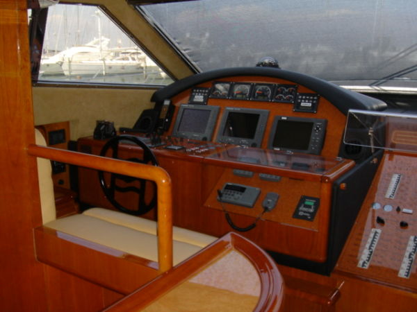 This Ferretti 72 with fly bridge is a fine example of a Ferretti 72 model ...
