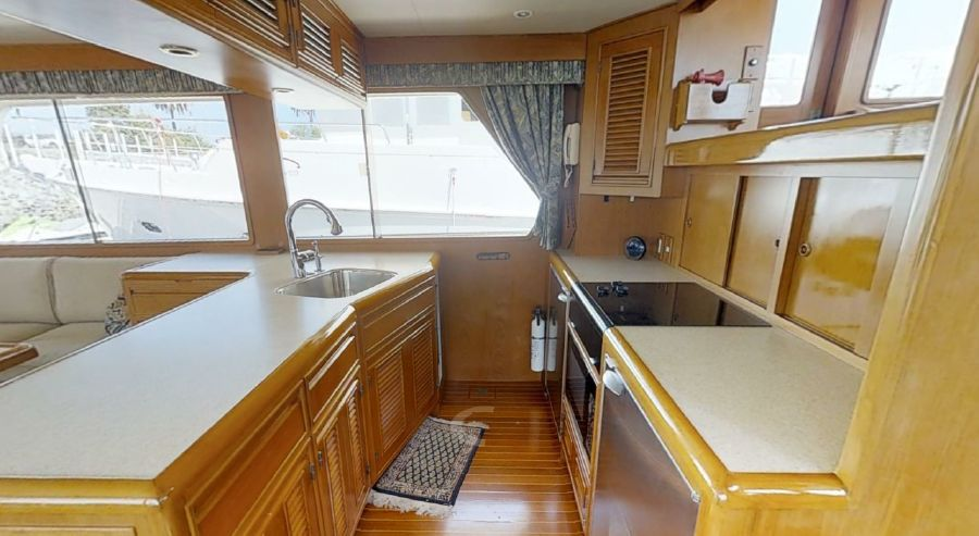 Offshore 55 Pilothouse Galley Kitchen
