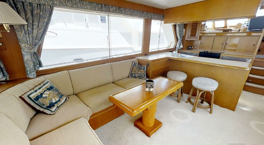 Offshore 55 Pilothouse Interior Salon