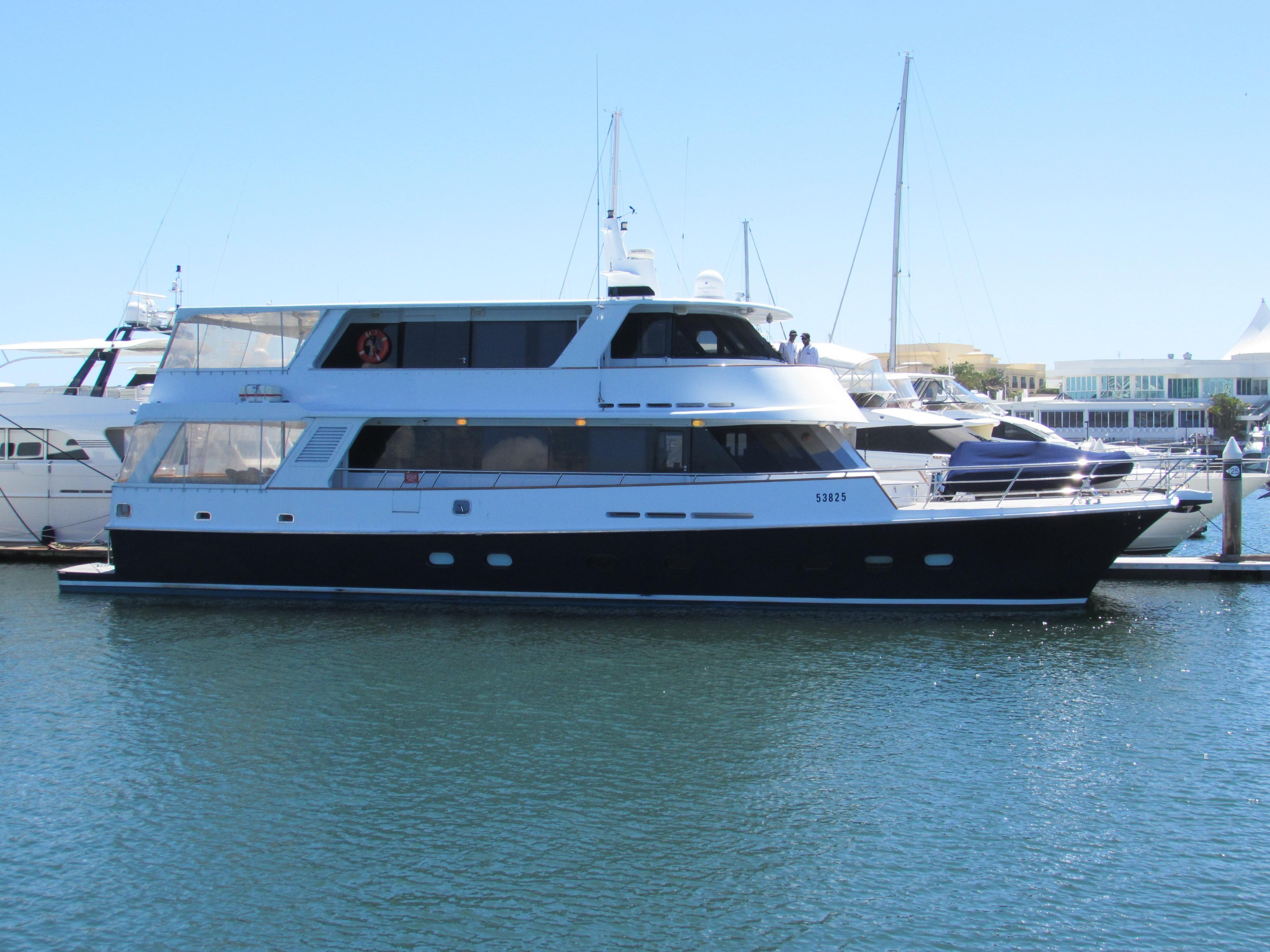 1986 86 39 luxury catamaran motor yacht power boat for sale for Luxury motor boats for sale
