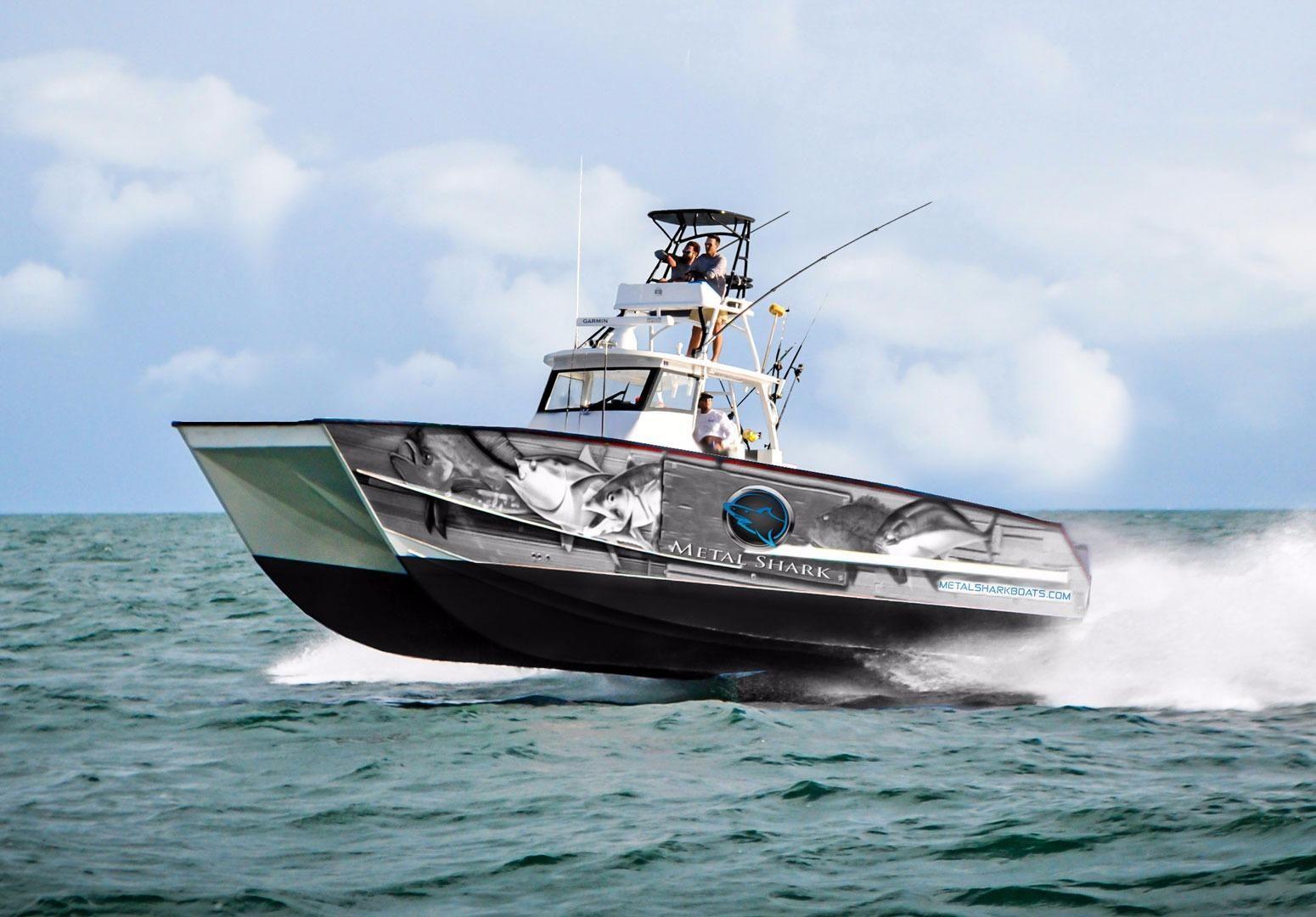 2017 Metal Shark 40 Catamaran Power Boat For Sale - www ...