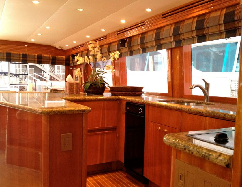 65 Hatteras Galley Kitchen