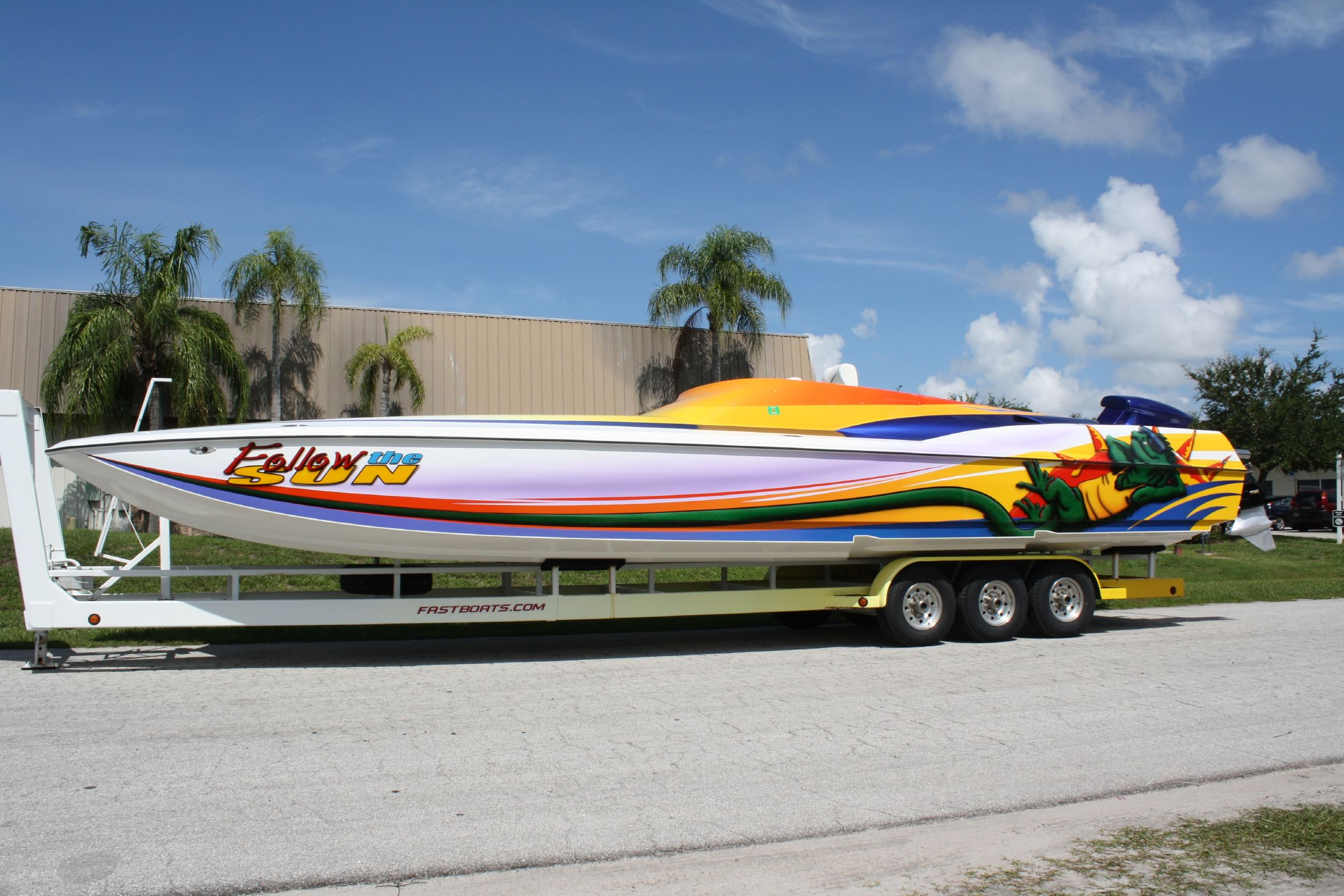 Something Hustler 377 powerboat for sale