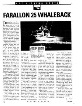 1988 Farallon 25 Whaleback