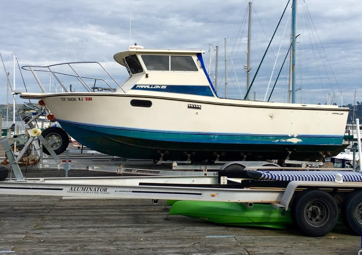 1988 farallon 25 whaleback power boat for sale www for Commercial fishing boats for sale west coast
