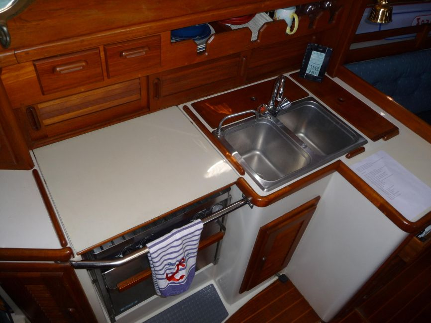 Pacific Seacraft 31 Sailboat Galley Kitchen