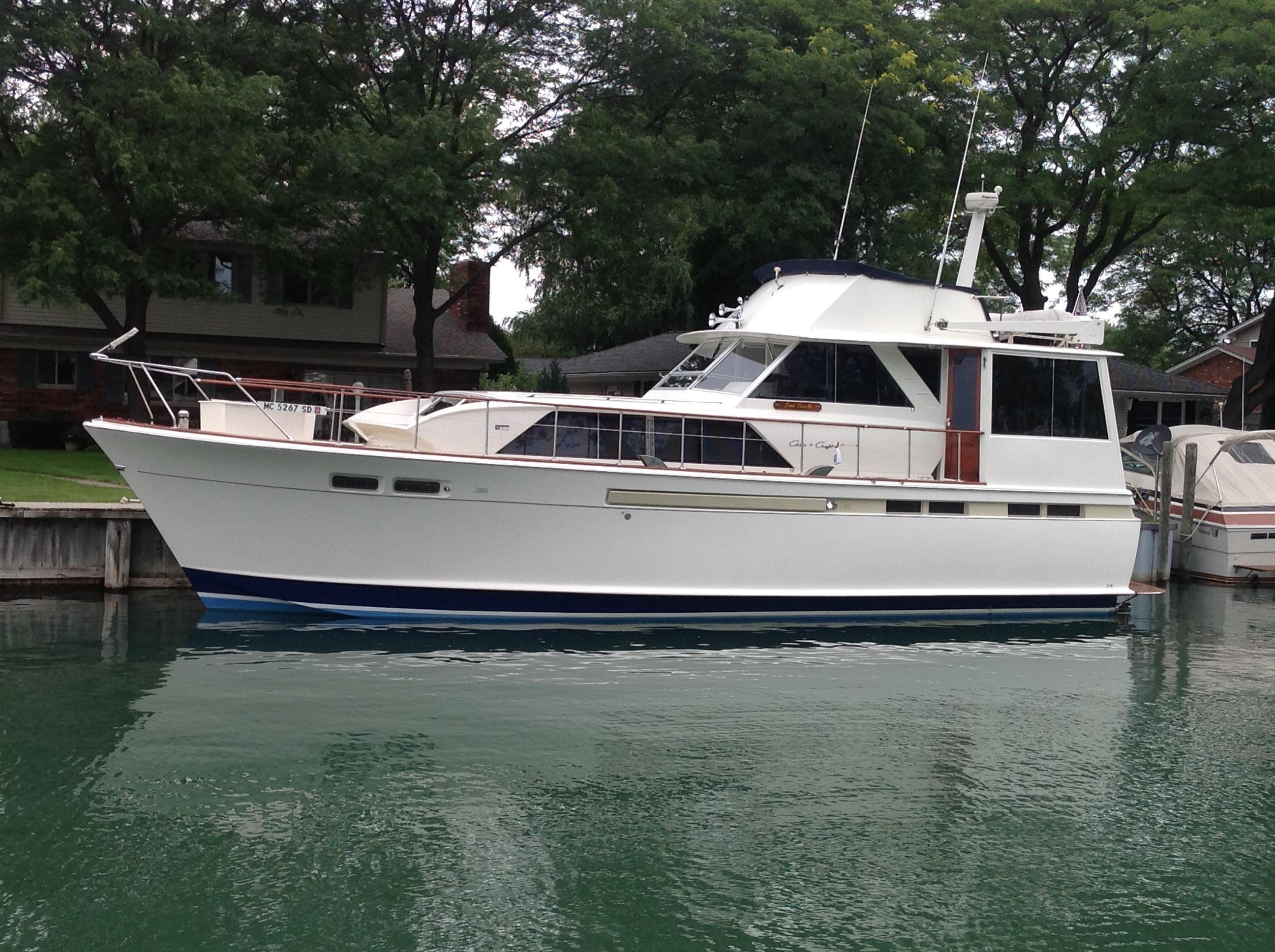 1968 Chris Craft Commander Flush Deck Power Boat For Sale