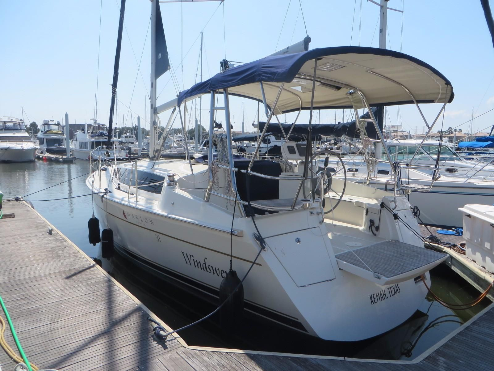 2015 marlow hunter 31 sail boat for sale for Sailboat outboard motor size calculator