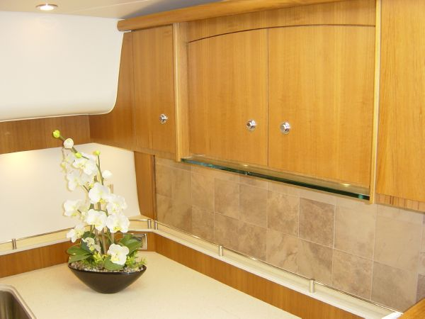 Photo of Tiara 4500 Sovran Galley Cabinetry