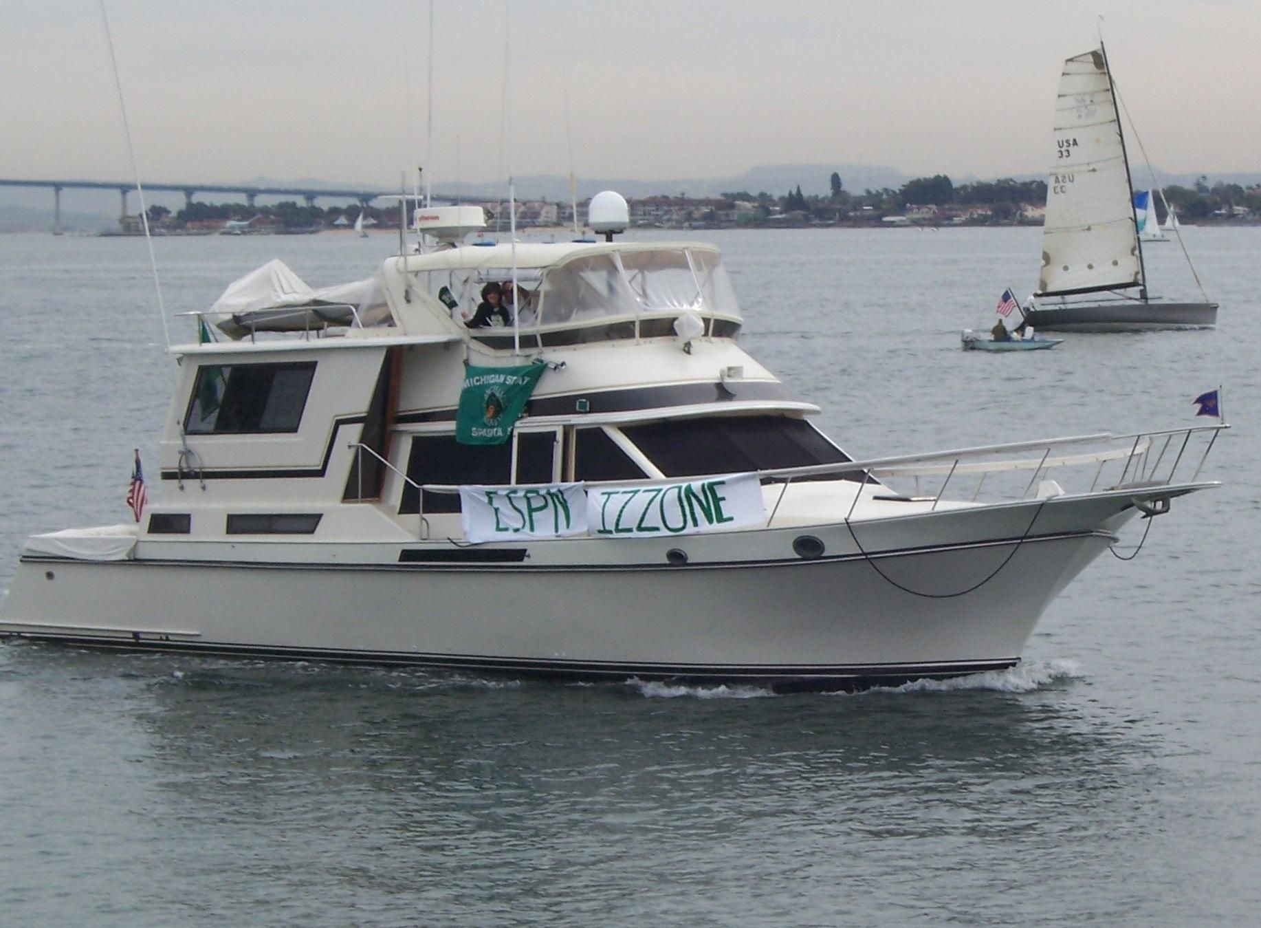 1985 Californian Cockpit Motor Yacht Motore Barca In