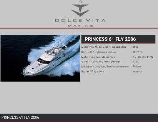2006 Princess 61