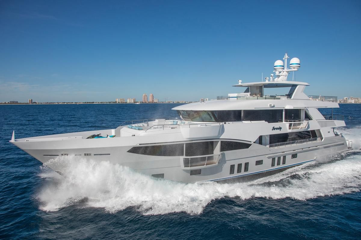 2016 iag tri deck motor yacht power boat for sale www for Johnson marine italia