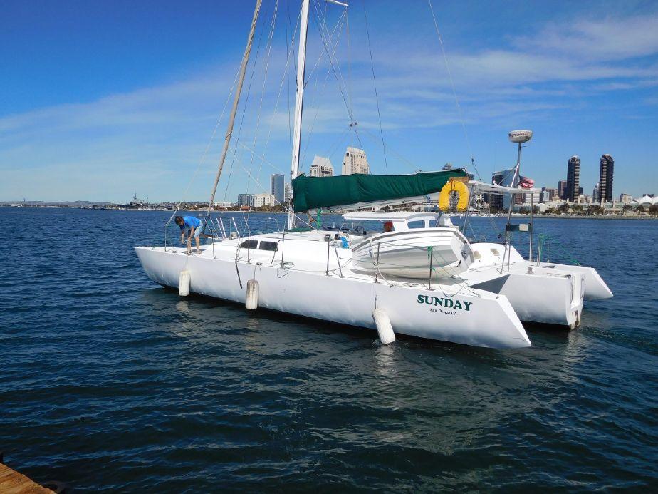 1974 Norman Cross Trimaran Sail Boat For Sale - www yachtworld com