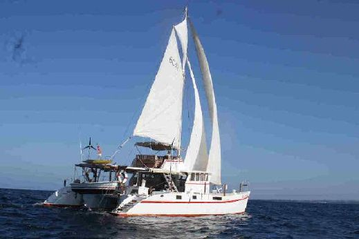 1984 48ft Flybridge Motorsailer-Catamaran