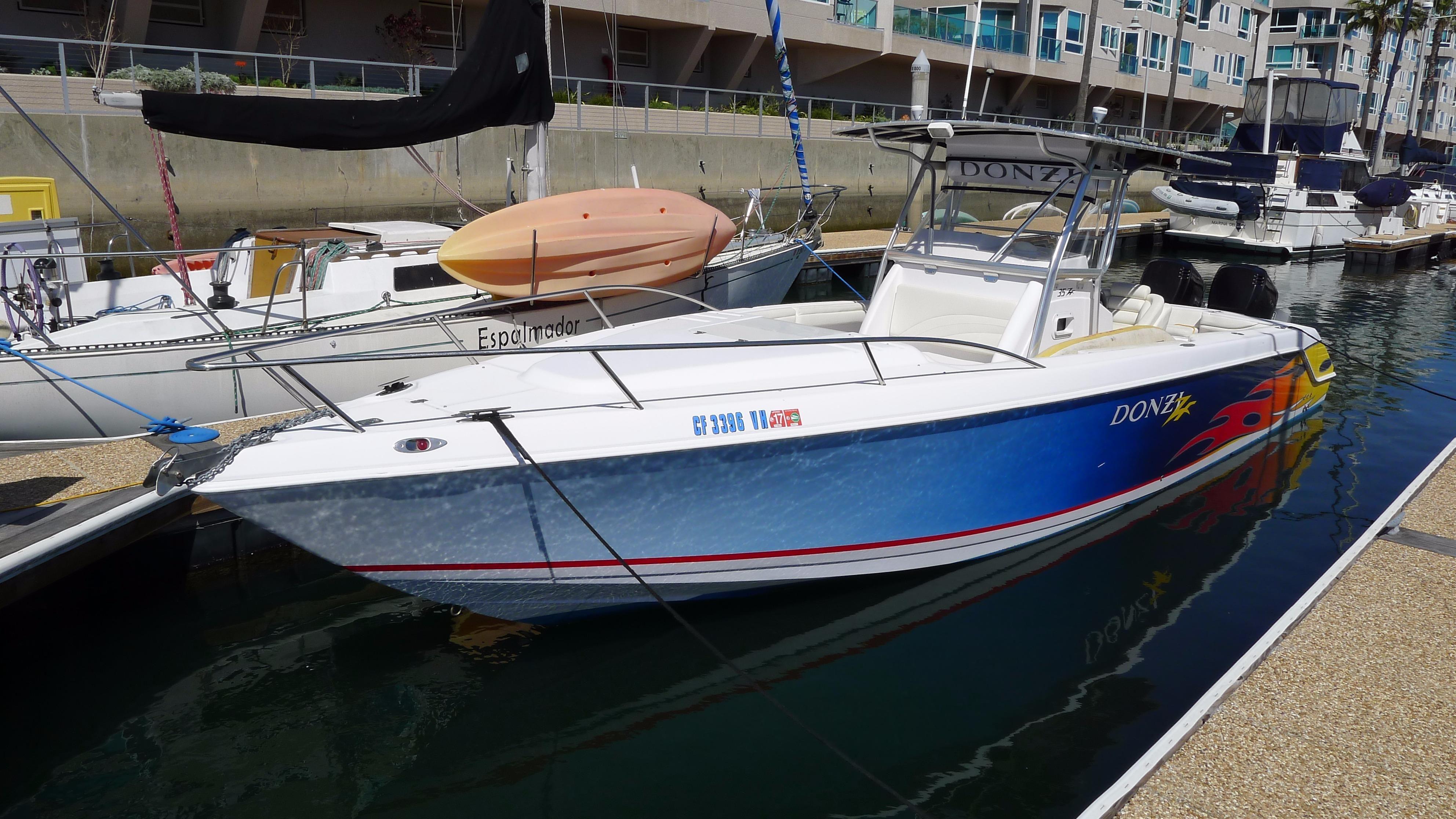 2004 donzi 35 zf cuddy power boat for sale www for Deep sea fishing marina del rey