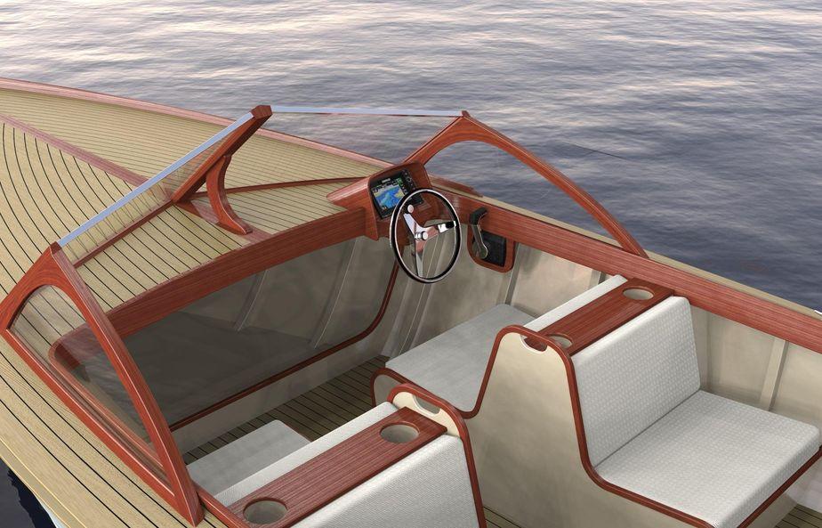2017 Brooklin Boat Yard 24 Outboard Runabout Motor Boot Zum Verkauf