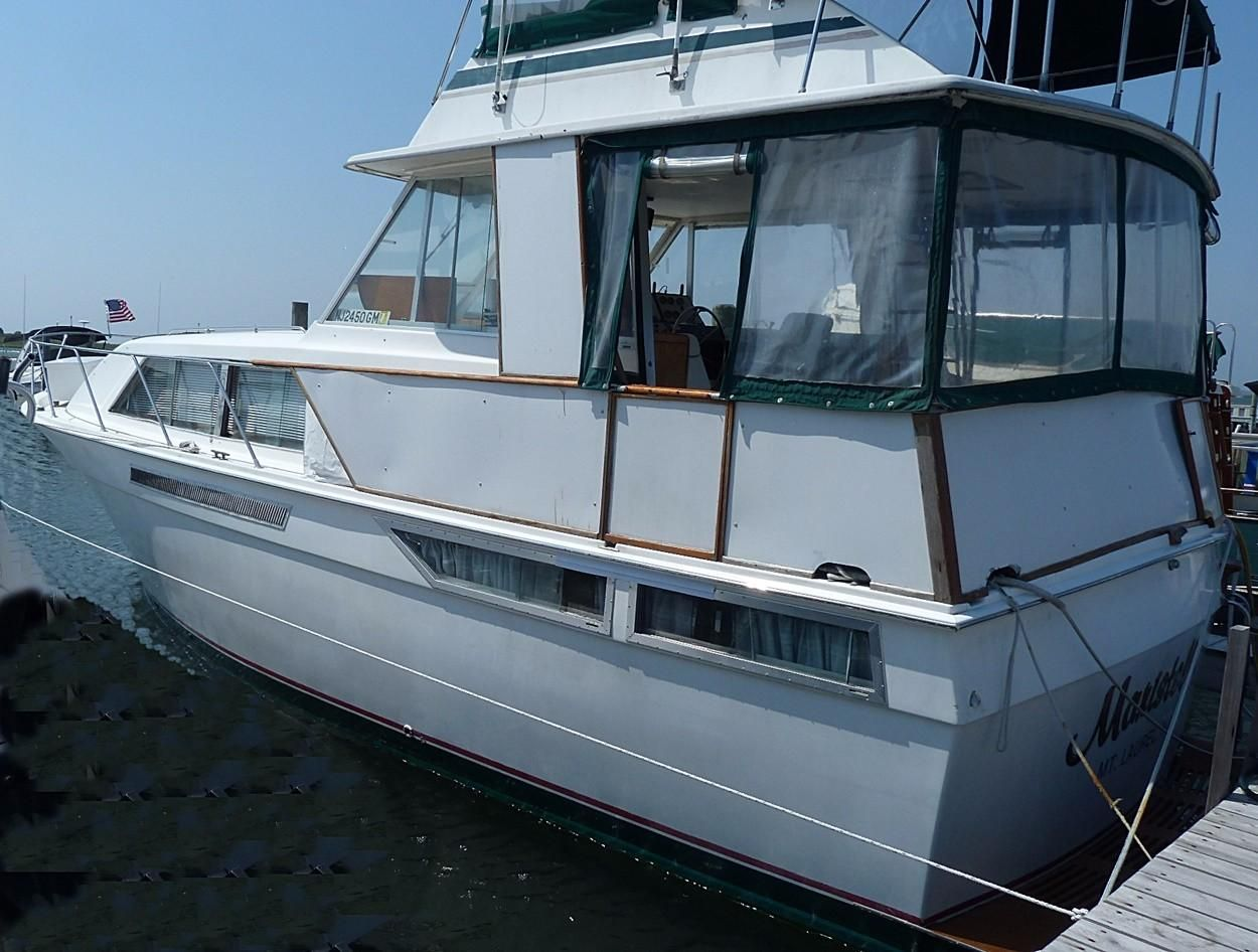 1976 pacemaker 40 motor yacht diesel power boat for sale for Motors for boats for sale