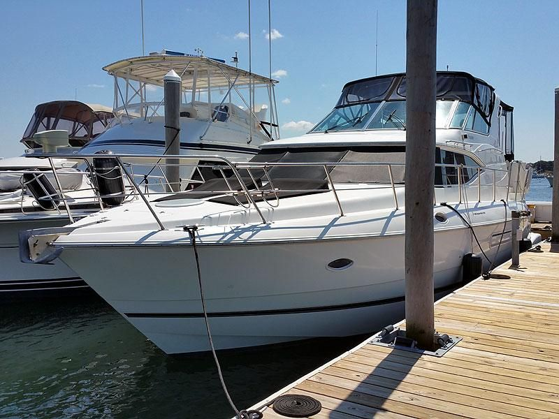 2001 cruisers yachts 4450 power boat for sale www for Sailboat outboard motor size calculator