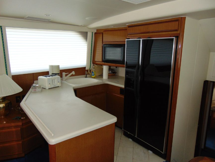 Viking 60 Cockpit Motor Yacht Galley Kitchen