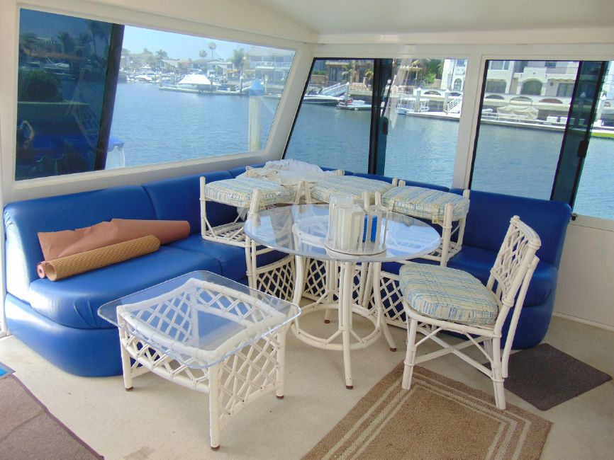 Viking 60 Cockpit Motor Yacht Aft Deck Seating