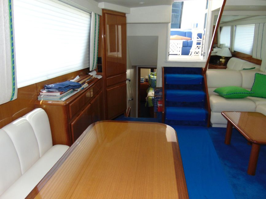 Viking 60 Cockpit Motor Yacht Salon Interior