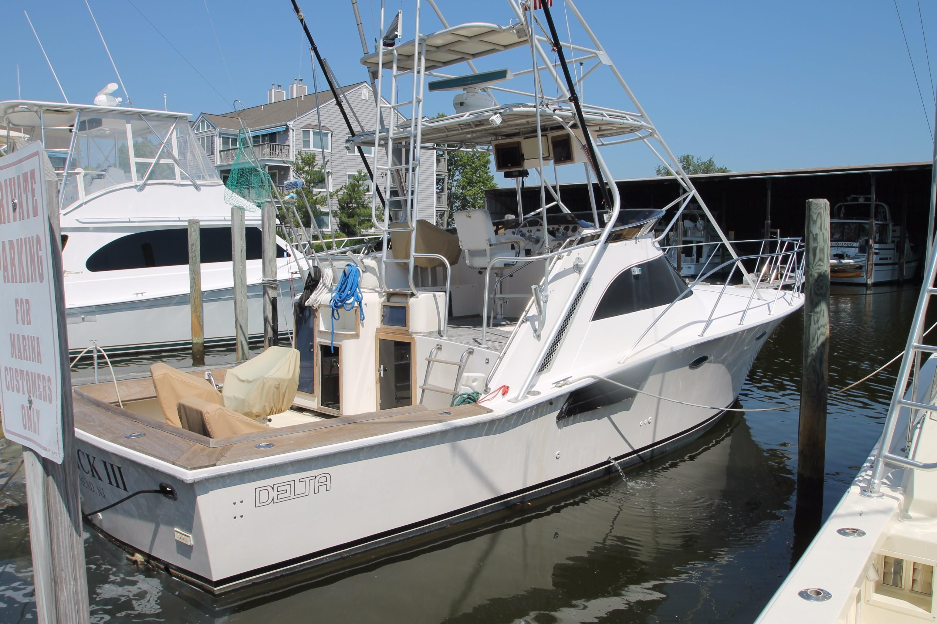 1988 delta open express power boat for sale www for Fishing boats point pleasant nj