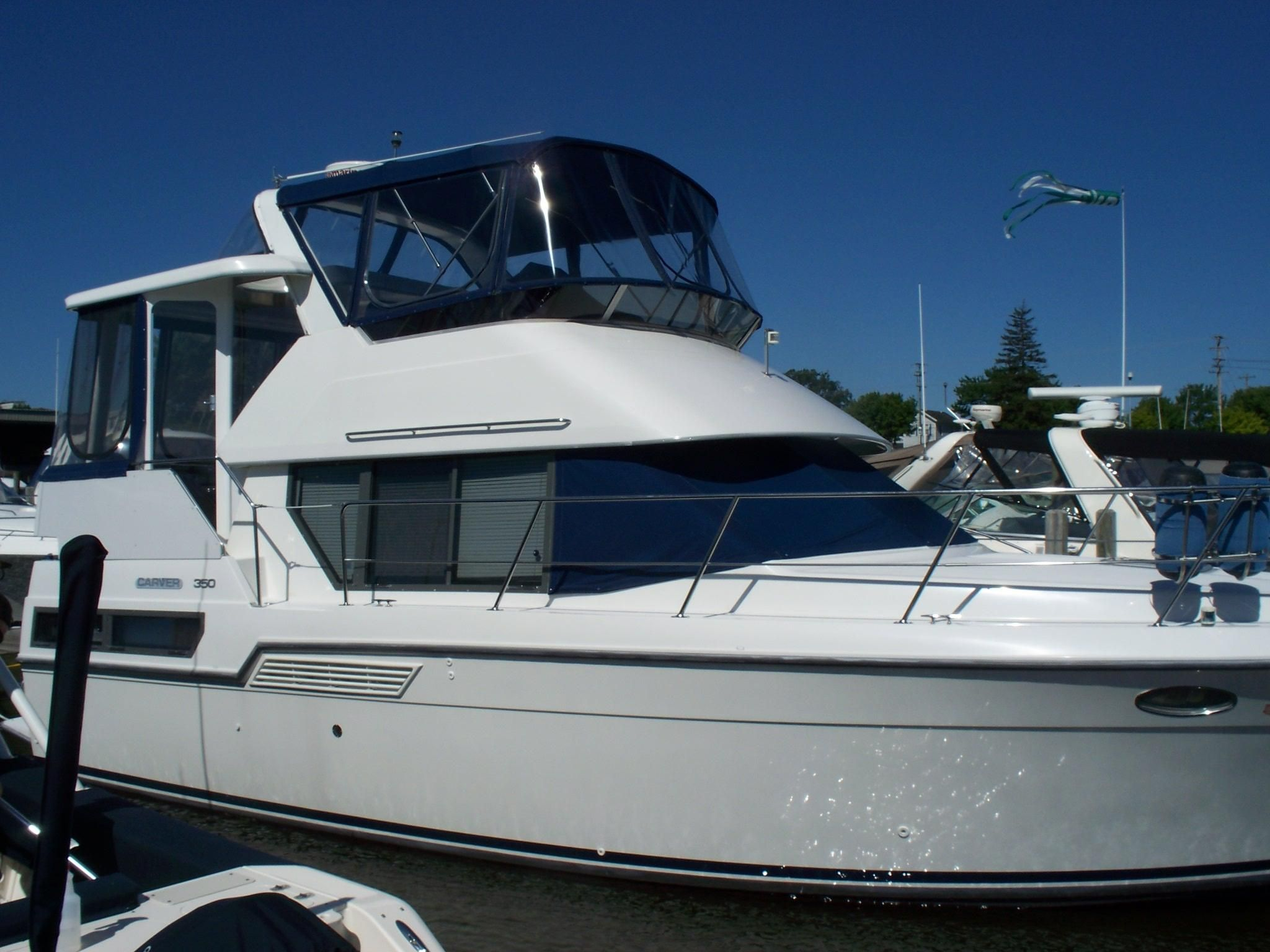 1994 carver 350 aft cabin power boat for sale www for By the cabin catamaran charters