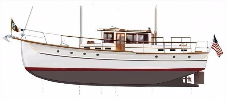 1931 Palmer Johnson William Hand Motorsailer Power Boat For