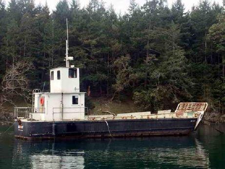 1969 Grafton Boat Works Us Navy Barge/Landing Craft