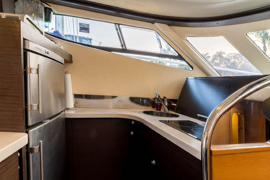 2008 Cranchi Atlantique 50 Yacht Galley Kitchen