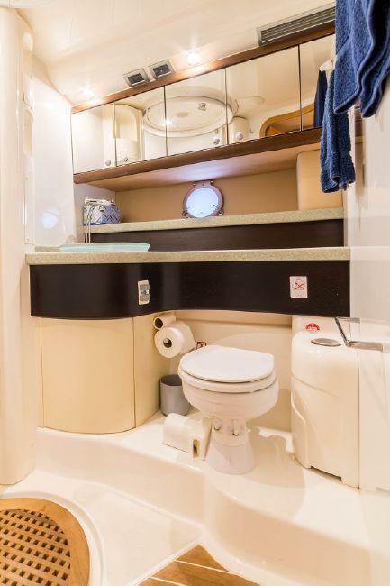 2008 Cranchi Atlantique 50 Guest Head Bathroom