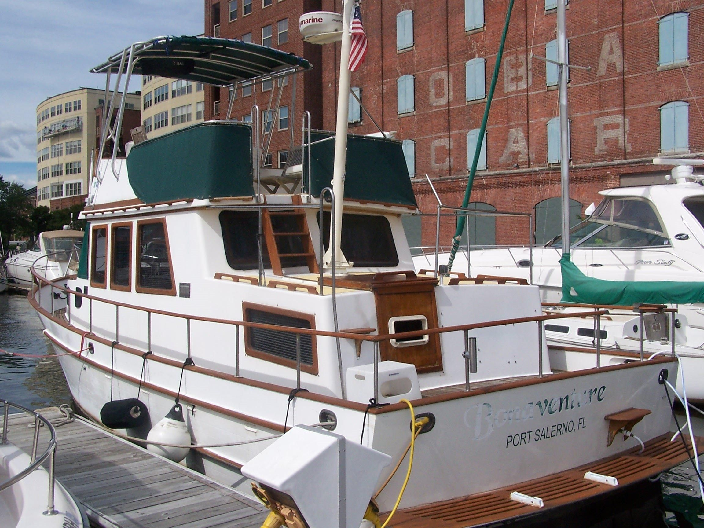 1983 marine trader double cabin power boat for sale www for Outboard motors for sale maryland