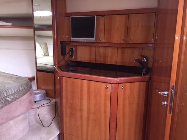 Sunseeker 37 Sportfisher Interior Galley Sink
