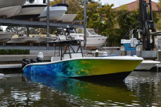 2007 Yellowfin 34 CC with tower