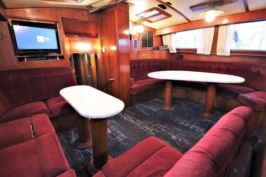 Cheoy Lee 63 Motorsailer Yacht Dining