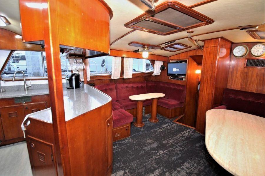 Cheoy Lee 63 Motorsailer Interior Salon