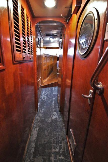 Cheoy Lee 63 Motorsailer Passageway