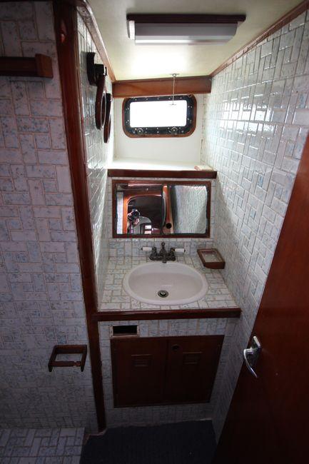 Cheoy Lee 63 Motorsailer Guest Head Bathroom